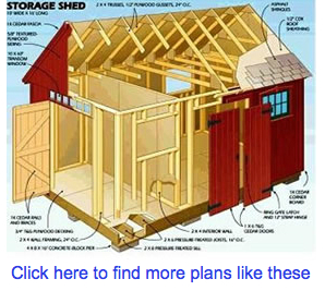 Storage shed plan